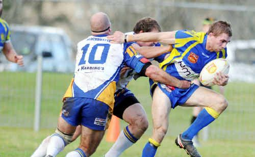 Marist Brothers' Jack Woods in action for the Rams.
