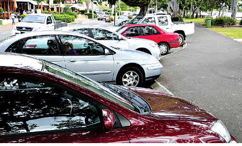 """A motorist has successfully fought a parking fine for parking nose-in on Gympie Terrace, Noosaville, instead of the signed """"rear in""""."""