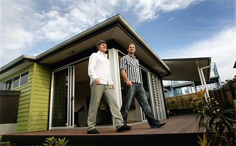 Aboda Design Group building designers Lee Foster and Scott Falconer.