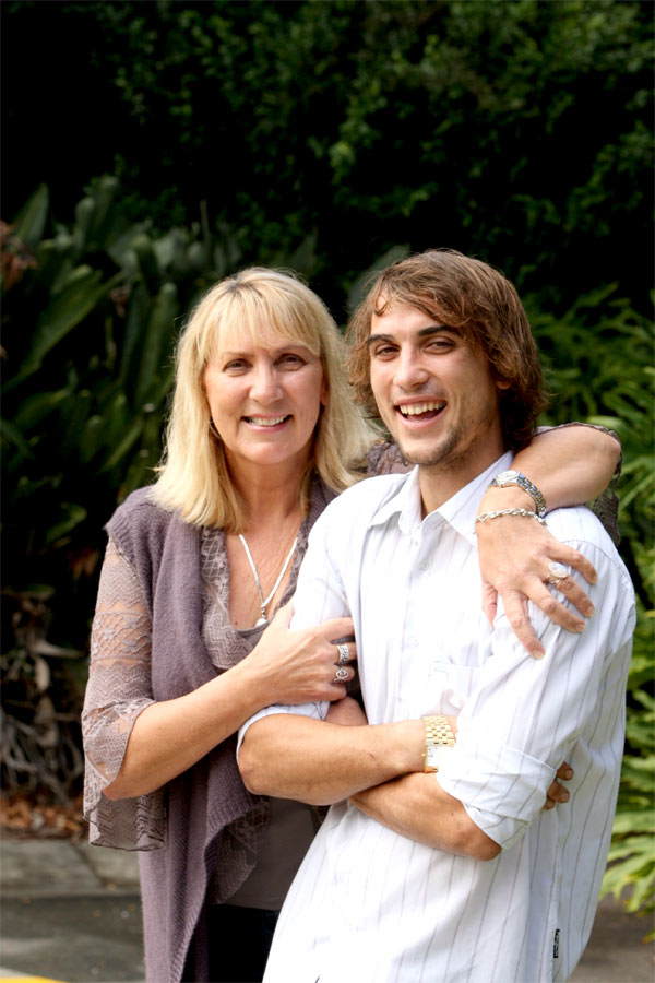 FIRST: Blake Melbourne, 23, pictured with mum Kerry, was the first baby born at Buderim private hospital.