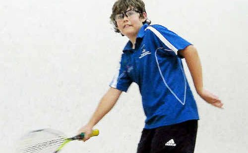 EYE ON THE BALL: Brad Harrison of Coffs Harbour holds No 3 under-13 ranking in the State.