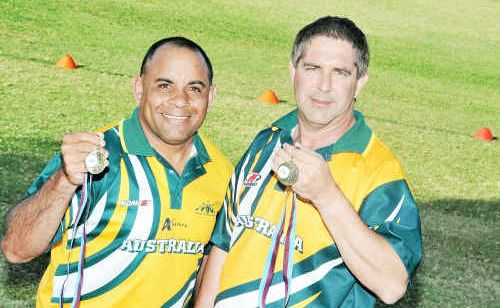 Local Touch players Laurie Anno and Fred Roeser enjoyed the 3-nil whitewash of NSW recently.