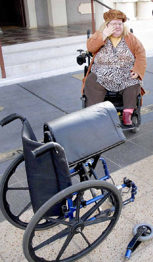 Paraplegic Maz Smyth spent this week trying to get council to help her only to be told she was too fat for her wheelchair.