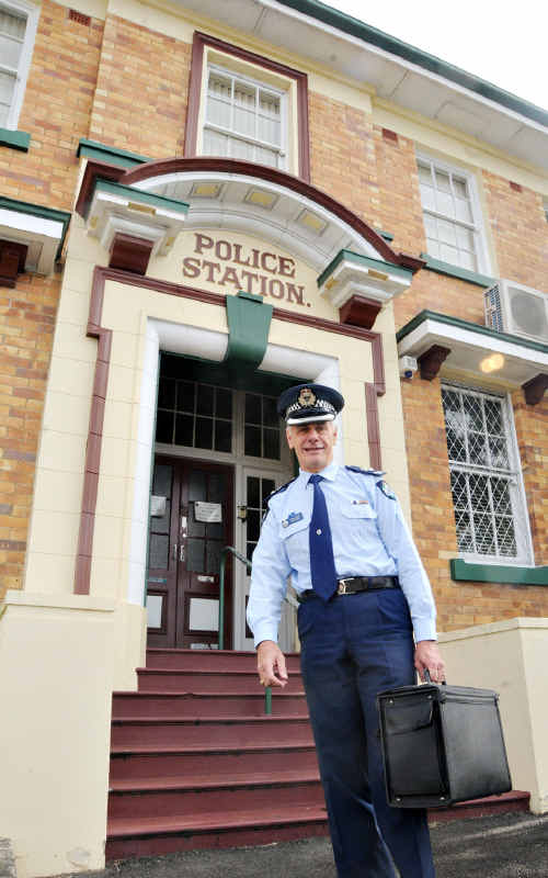 Superintendent Alan Bourke says good-bye to his office at Gympie Police Headquarters