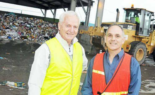 Councillor Col Chapman and Environmental Health director Charlie Sotiris.