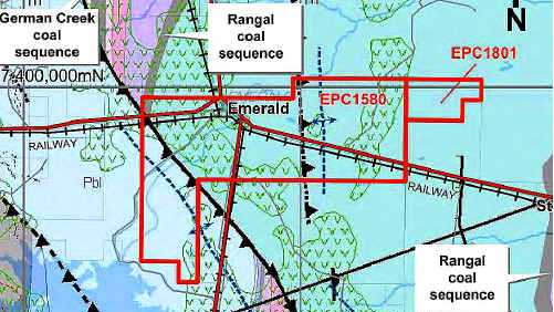 EXPLORATION: Newland Resources will search for thermal and coking coal resourses in its newly-aquired tenements covering Emerald and Comet (right). file