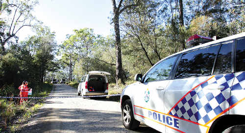 A 24-year-old man allegedly shot in the face was found on Old Caloundra Road at Landsborough.