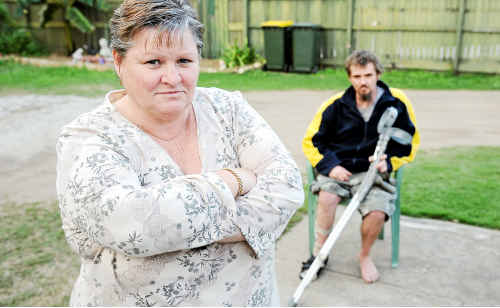 Nataliene Hewitt and her son Matthew frequently travel to Brisbane to see the specialist.