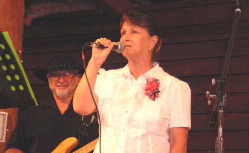 Liz Green performs on stage at the Rockhampton Heritage Village for the Queensland Awards of Recognition in Country Music.