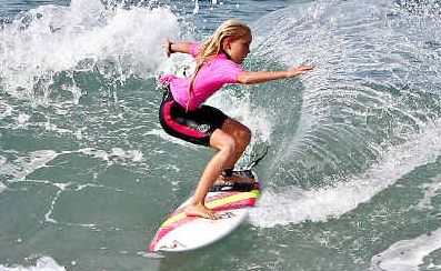 Patience prevails: Laura Poncini took out the 12 year and under girls division of the Rusty Gromfest at Lennox Head yesterday.