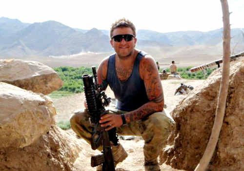LOVED THE ARMY: Private Nathan Bewes, who was killed last Friday while serving in Afghanistan, was a 'patriotic, lovable larrikin', according to his grieving loved ones.