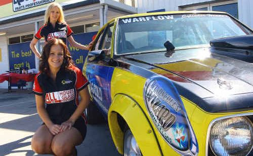 All Hour Glass Grid Girls Stacey Marfriei and Chantelle Nowland.