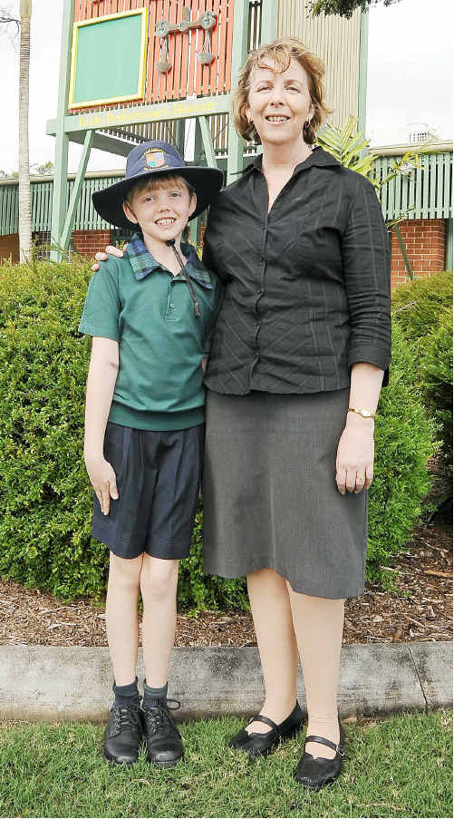 Sue Browne with daughter Madeline, who attends St Luke's Anglican School, thinks a tax break on school uniforms is a great idea.