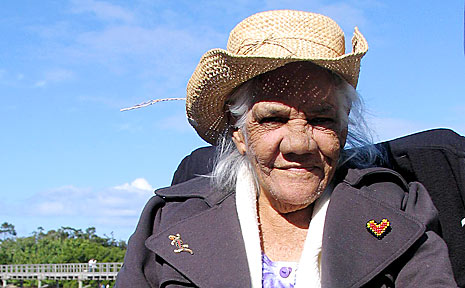 Auntie Dulcie Nicholls enjoys NAIDOC Week celebrations at Brunswick Heads.