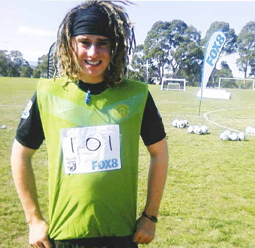 RISING STAR: Sixteen-year-old Zac Wood put on a strong showing at Fox 8's Football Superstar trials in Melbourne. cont
