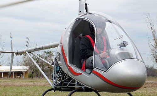 The Argentine-designed Cicare light helicopter.