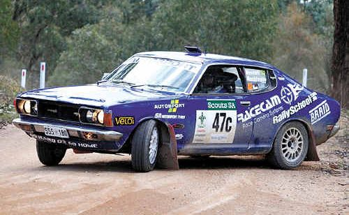 Jack Monkhouse attacks a corner in his Datsun 180 SSS.