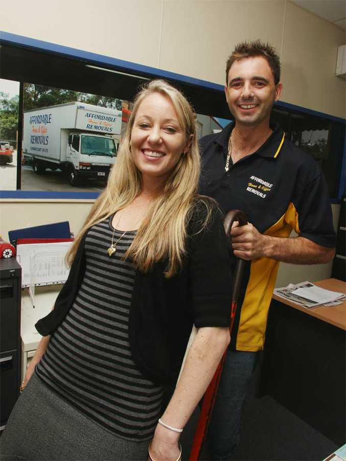 Stacey Hogan and Andrew Grima have opened a new warehouse in Coolum.