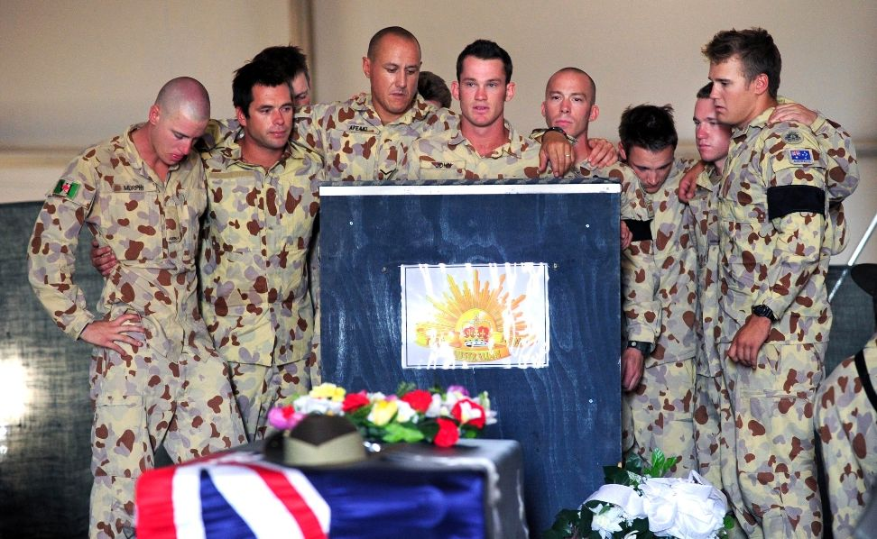 A service for Murwillumbah soldier Private Nathan Bewes was held at Tarin Kowt in Afghanistan overnight Monday.