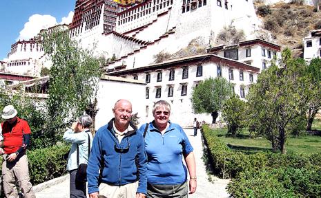 TAROOM TO TIBET: Taroom couple Bill and Loretta Brennan visited the Dalai Lama's Potala Palace while on holidays in Tibet.