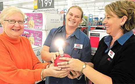 Bev Parker wants to give massive kudos to Kmart staffers Marissa Rossetti and Toni Cross.