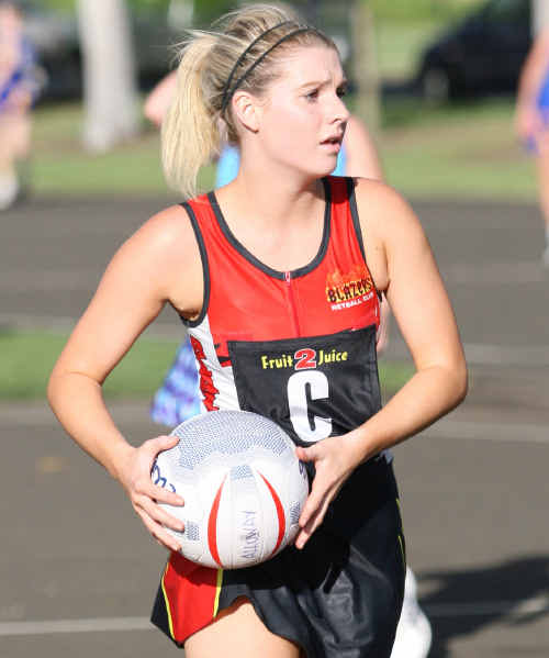 Bundaberg netballer Kisstee Corrigan in action.