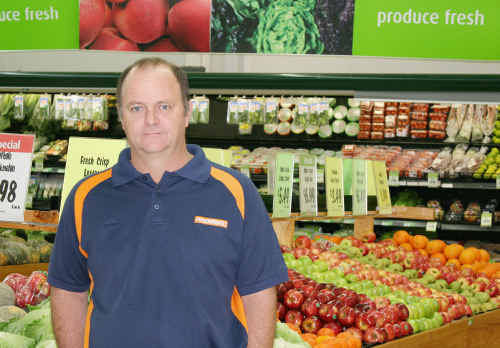 VULNERABLE: Foodworks owner Rick Smith fears the impact of Sunday trading could mean the end for his business. ig-140710- 016