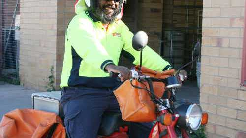 POSTIE NEEDED: Relief postie Roland Lea says riding his bike and experiencing the outdoors is the best part of being a postie in Emerald. ig-150710- 007