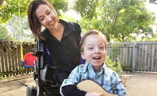 Single mum Lisa Lehmann and her three-year-old son Hunter.