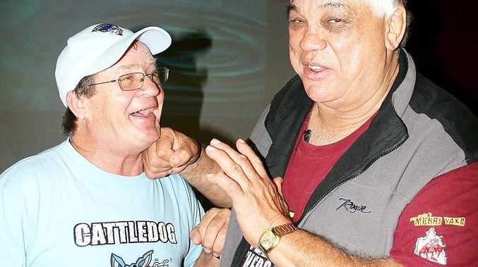The original state of origin captains Tommy Raudonikis and Arthur Beetson have become the best of mates as they tour the country talking to rugby league enthusiastists about the Birth of Origin.