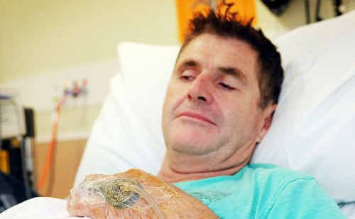 Local man Alan Brookes endured a fortnight of agony after an afternoon in the garden thanks to what he thinks is a white-tailed spider bite.