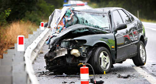 A elderly woman lost her life in a head-on car crash on the Sunshine Motorway near Mount Coolum.