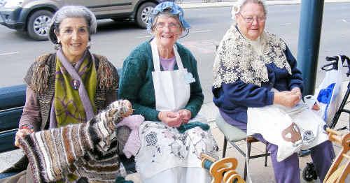 Helen Stumkat, Marj Gambrill and Edna Westman worked their magic yesterday.