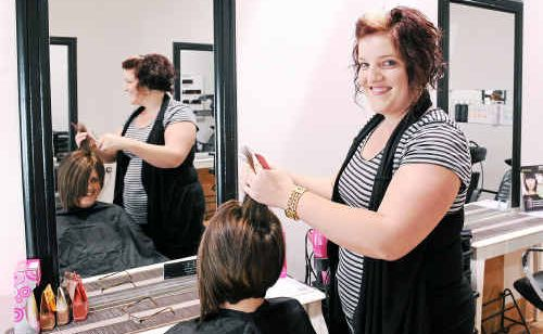 Hairdresser Jodie Thornton works long hours and loves every minute of it.
