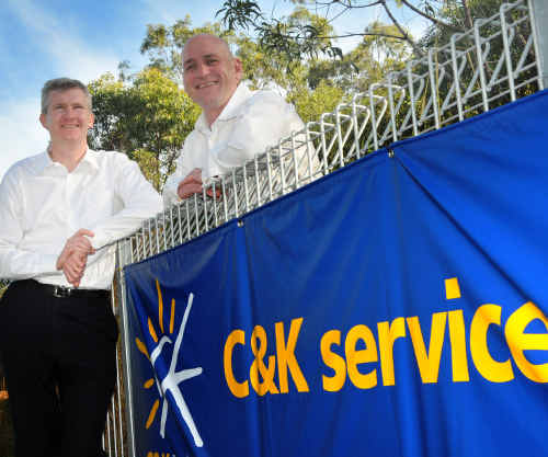 Federal Minister for Sustainable Population Tony Burke and Member for Flynn Chris Trevor visit Clinton State School in Gladstone.
