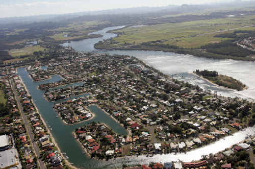 Maroochy Waters today is a very different place to 23 years ago when Rob and Pat Larkin bought their waterfront block of land.