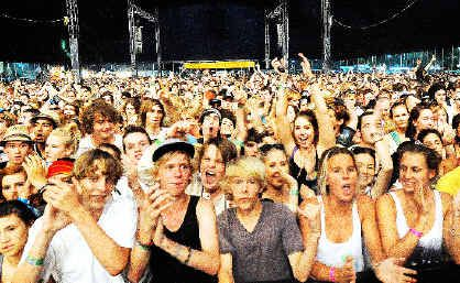 A portion of the crowd at last year's Blues and Roots Festival at Byron Bay.