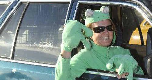 Lyn Bultitude, the Green Frogs' Variety Bash mascott.