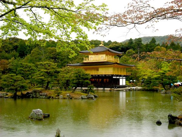 Kinkaku-ji Temple of Golden Pavillion in Kyoto.