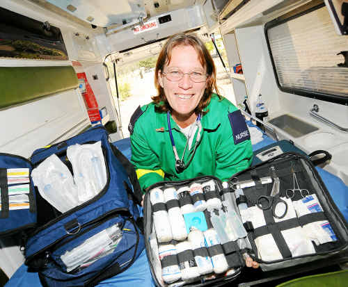 Nurse Deborah Miller is part of a new medical service complementing the Queensland Ambulance Service in the Wide Bay Burnett region.