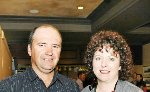 Jason and Katrina Burey attend the Bundaberg Juvenile Diabetes Action Support Group's Christmas in July Dinner.