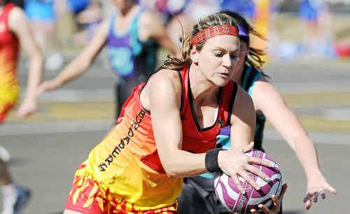 Bundaberg Flames division 1 opens player Natasha Cross in a game against Jimboomba.
