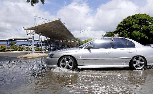 Flooding in Tamar Street, Ballina, during a king tide in 2009 is just part of the problem facing Ballina, according to a draft report on floodplain risk management submitted to Ballina Council.