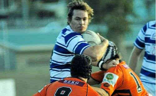 Brothers' Ben Meredith in action during the reserve-grade rugby league between Wallabys v Brothers, Saturday Night at Marley Brown Oval.