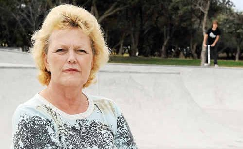 Christel Hirning is unhappy about the noise coming from the new Innes Park skate bowl.