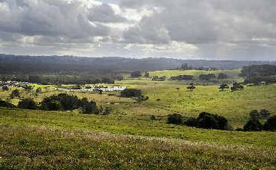 New start: The 80-hectare Pacific Pines Estate site at Lennox Head, viewed from North Creek Road. Reports have emerged the stalled development may be back in track, with plans to complete the project, which went into receivership in 2008.