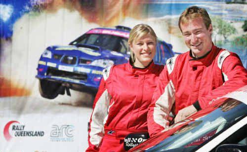 Sibling rally team Ryan and Rebecca Smart.
