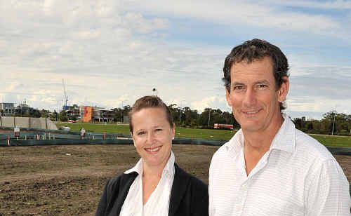 Sunshine Cove development sales team Glen Cassidy and Penny Service at the residential site.