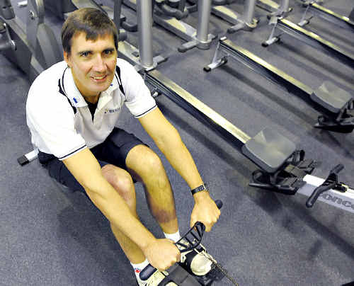 Clint Robinson will compete over 500m at the Sunshine Coast indoor rowing champs.