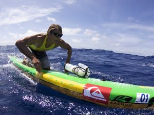 Paddler claims title and record